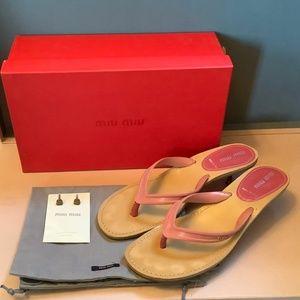 Miu Miu Flip Flop Sandals